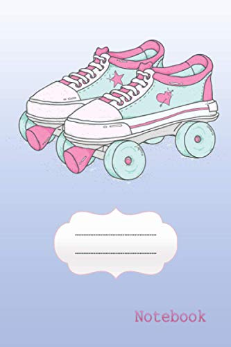 Quad Roller Skates Laced Boots Notebook (Quad Roller Skating Lovers Gift): Ruled Lined 100 Pages (Composition Book, Journal) (6