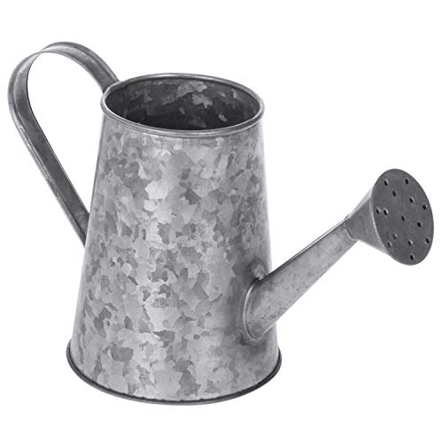 MyGift Small Vintage Galvanized Metal Decorative Watering Can Vase