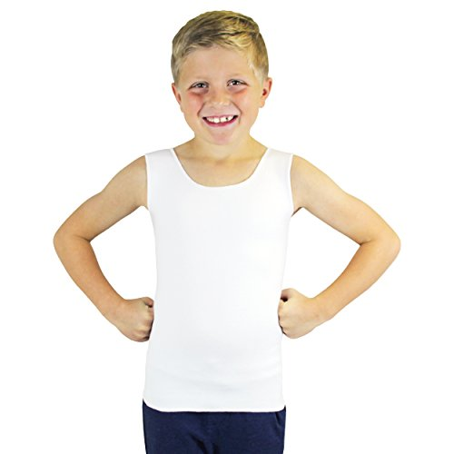SmartKnitKIDS Compresso-T Deep Pressure Sensory Compression Undershirt (White, Medium)