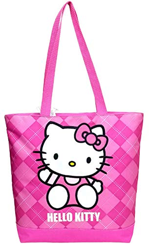 Tote Bag - Hello Kitty - Pink Checker