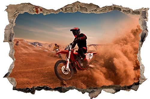 DesFoli Motocross Motorrad Offroad Wandtattoo Wandsticker Wandaufkleber D2584 Größe 100 cm x 150 cm