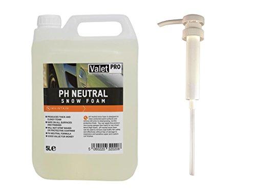 ValetPRO ph Neutral Snow foam 5L + detailmate Dosier Dispenser Hand Pumpe für Kanister - ganz einfaches Dosieren von dem pH neutralen Snow Foam mit dem praktischen detailmate Dispenser