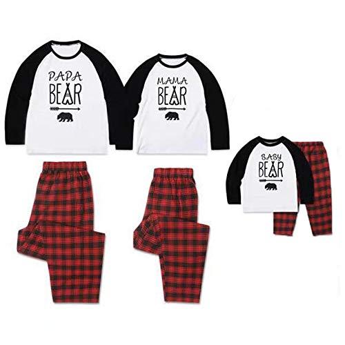 TLLW Familia de Navidad Pijamas de Navidad Familia Coincidencia Oso Polar Pijama PJ Conjuntos de Navidad Pijamas Dulce Navidad