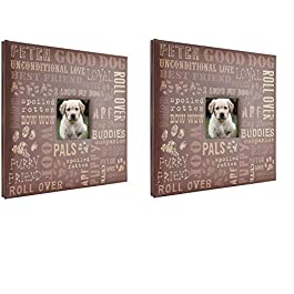 MCS MBI 13.5×12.5 Inch Good Dog Pet Theme Scrapbook Album with 12×12 Inch Pages (860125) – 2 Pack
