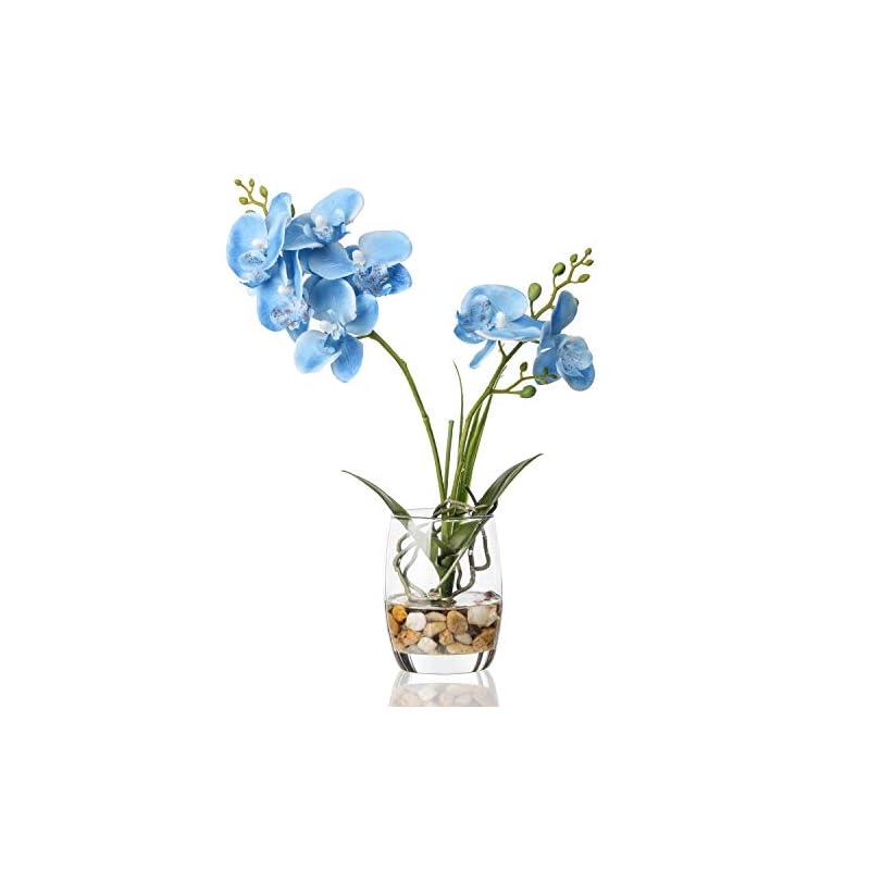 silk flower arrangements jusdreen artificial flower bonsai with glass vase vivid orchid flower arrangement phalaenopsis flowers pot for home office décor house decorations