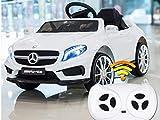 ATAA Mercedes GLA Coche eléctrico para niños batería 12v con Mando para Padres- Blanco