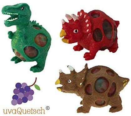 UvaQuetsch ® Dinosaurier Dino Quetschball +++ inkl. Geschenkbox +++ 2019 +++ Quetsch Figur Stressball Knetball Quetschi (Zufall)