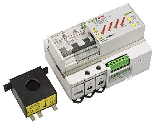 Disyuntor Magnetotérmico Monofásico con protección por sobreintensidad, diferencial y baja tensión, con Rearme Automático LED705 (20A, 5 milisegundos)