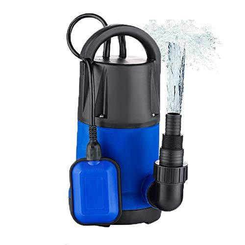 Sump Pump Automatic Submersible Water Pump Clean Dirty Pool Flood Drain Garden House Energy Saving (Blue, 3/2HP)