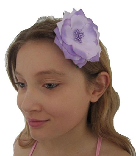 Mondial-fete - Fleur Broche Tropicale Violette 8 cm