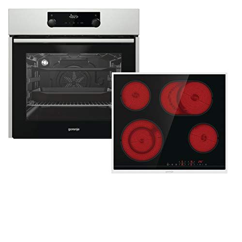 Gorenje Hot Chili BO Umluft HiLight Backofen-Set, edelstahl