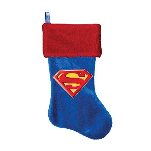 Superman Logo Applique Stocking, 19-Inch