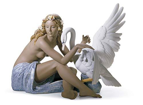 LLADRÓ Figura Leda Y El Cisne. Figura Cisne de Porcelana.