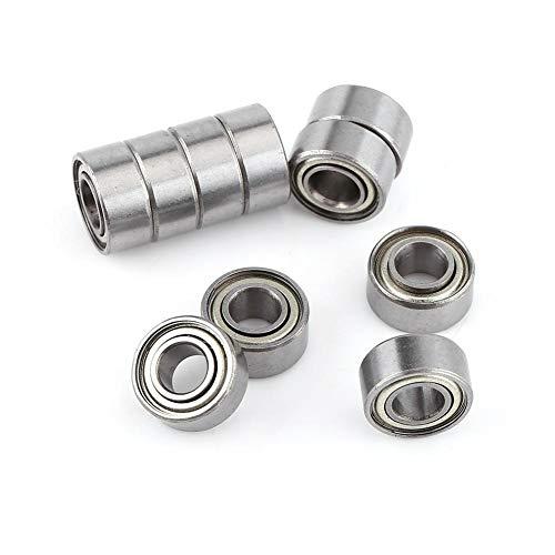 10 piezas de rodamiento rígido de bolas Rodamientos de bolas sellados de goma doble en miniatura Micro rodamientos duraderos de uso múltiple para impresora 3D RepRap Patines de ruedas 5x11x5 mm