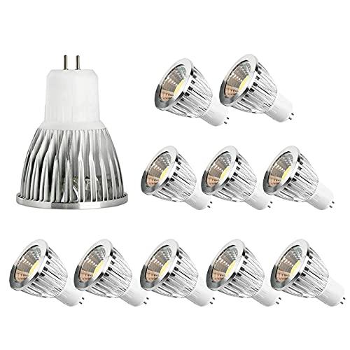 JYKFJ Lampadina a LED 12w, Lampadina Spot a pannocchia con Base Gu5.3, Lampadina a Risparmio energetico AC110v / 220v dimmerabile per Interni/Esterni paesaggistica, Confezione da 10