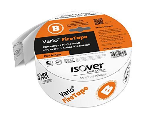 Isover 567717 FireTape - Cinta adhesiva de una cara para interiores para...