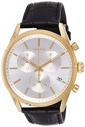 Calvin Klein Reloj Cronógrafo para Hombre de Cuarzo con Correa en Cuero K4M275C6