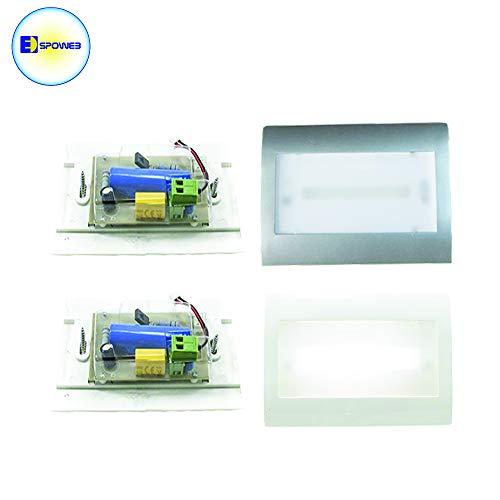 WISDOM LAMPADA LUCE EMERGENZA LED 2,5W INCASSO IN 503 MODELLO XC-6510