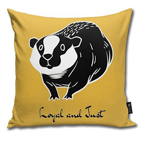 BwwoBing Throw Kussenhoes voor slaapbank, sofa, woondecoratie, vintage, premium kwaliteit, loyal patroon, vierkant, 45 x 45 cm