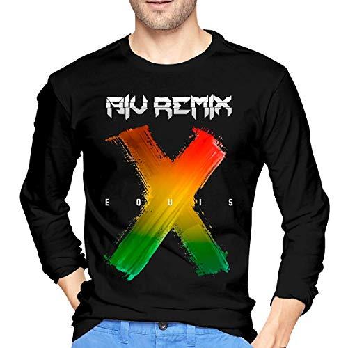 Camiseta de los Hombres Mens Vintage Nicky Jam J Balvin X Long Sleeve T-Shirt XXL Black Unique Design