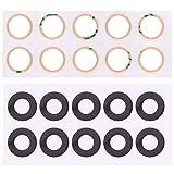YIHUI Repare Repuestos 10 PCS Volver Lente de cámara con Adhesivo for Google Pixel 2 Partes de refacción
