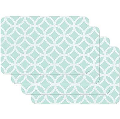 Superficie lisa y fácil de limpiar Alimentos seguros y estables procesados De plástico estable y, por lo tanto, resistente al calor Protege el tablero de la mesa y otras superficies de arañazos y manchas Tamaño: 45 x 30 cm