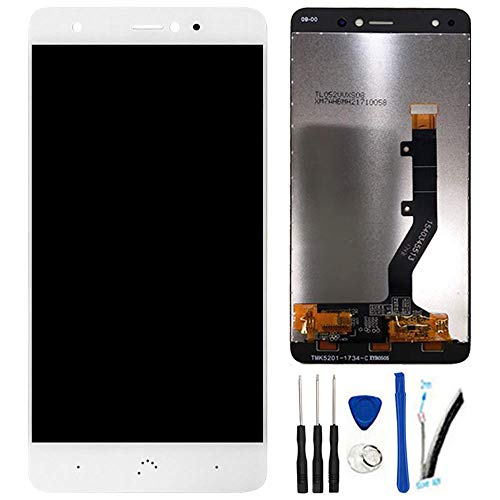 "SOMEFUN Pantalla LCD Repuestos Compatible con BQ Aquaris X/X Pro 5.2"" LCD Pantalla Táctil Digitalizador Asamblea de Vidrio (Blanco)"