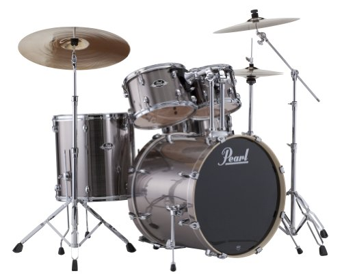 Pearl EXX725S/C 5-Piece Export New Fusion Drum Set with Hardware - Smokey Chrome