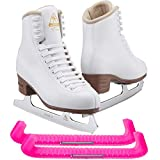 Jackson Ultima Excel JS1290 Women's Ice Skates Width: Medium - C/Size: Adult 6.5 Bundle with Skate Guards