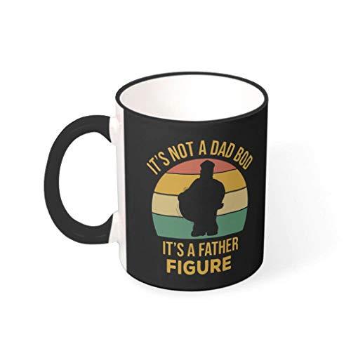 Becher Tasse Kein Dad BOD Porzellan Personal Becher Tasse - Vater Figur Männer Geschenk Black 330ml