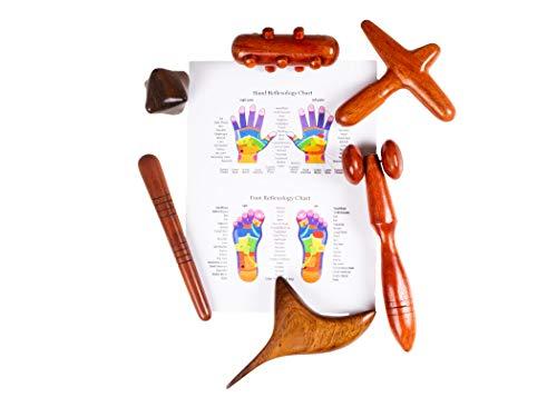 Masaje de pies y manos. Paleta de madera reflexología Multi disponible. (6 Herramienta PRO)
