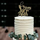 Decoración para tartas con nombre y edad, decoración de tartas de pesca personalizada, decoración de regalo de cumpleaños