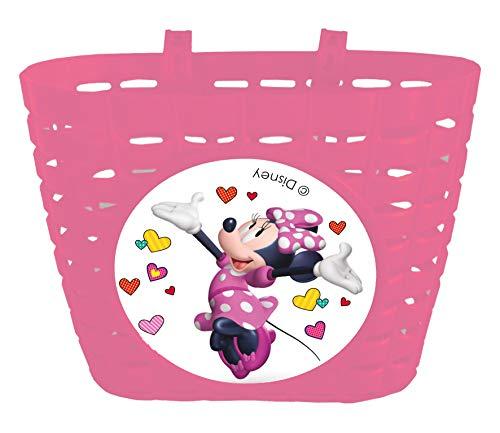 Disney Minnie Mouse Panier en Plastique pour Fille, Rose, 20 x 14 x 15 cm