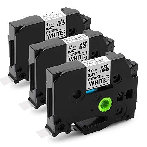 Nastri per Etichette Unistar Compatibile In sostituzione di Brother TZe-231 12mm per Brother P-Touch 1000W 1010 1090 1830VP 2030VP 2100VP 2430PC 2470 2730VP 7100 VP7600VP H100R H300 D200VP 3-Pack