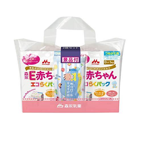 森永 E赤ちゃん エコらくパック つめかえ用 800g(400g×2袋)×2箱 景品付き[新生児 赤ちゃん 0ヶ月~1歳頃 粉ミルク]