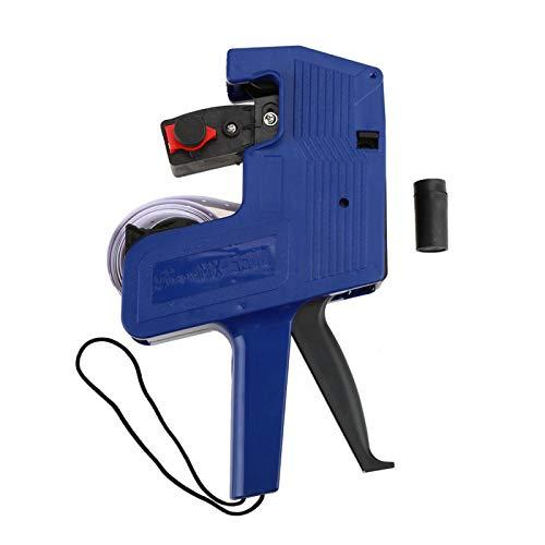 Etiqueta de precio de dígitos Máquina de etiquetado de pistola Kit de pistola de precios La herramienta de venta al por menor de etiquetadora MX-5500 Incluye etiquetas y recarga de tinta(Blue)