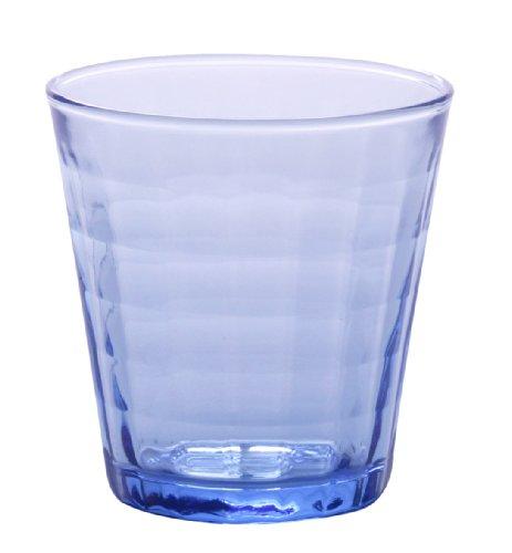 Duralex Prisme Marine 1031BC04 - Vaso (170ml, 4Unidades), Color Azul Transparente