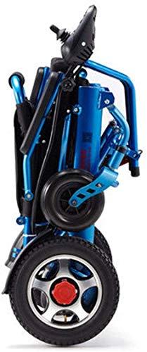 GQQ Komfort Rollstuhl Elektrische Rollstühle Klappbarer Leichter Aluminium Travel Deluxe Kompakt-Elektrorollstuhl Tragbarer Mobilitätsrollator Innen/Außen Mit Rückenlehne