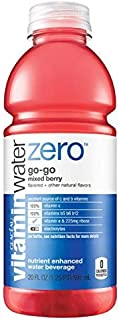 Glaceau Vitamin Water Nutrient Enhanced Water Beverage ZERO, Go-Go Mixed Berry, 20 oz (Pack of 24)