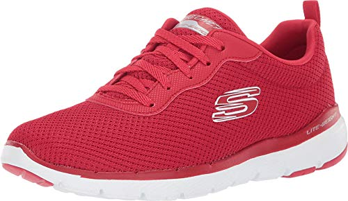 Skechers Women's Flex Appeal 3.0-First Insight Shoe, Red, 9 M US