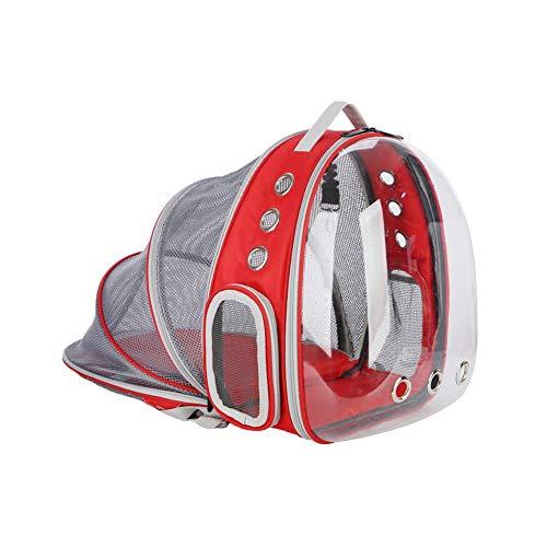 winnerruby Mochila transportadora para perros y gatos, bolsa de viaje con rejillas de ventilación, transpirable, transparente, expandible, como tienda de campaña para perros pequeños, gatos, conejos