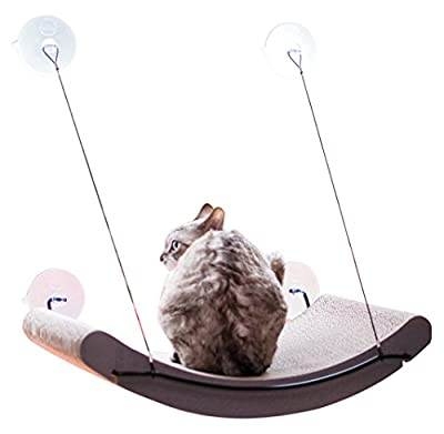 "K&H Pet Products EZ Mount Scratcher Kitty Sill Cradle Tan 11"" x 20"" x 2"""
