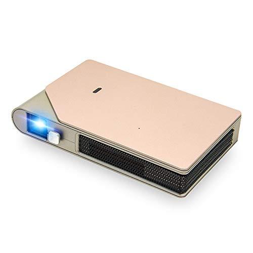 LYDUL 3D DLP zakprojector, draagbaar, Full HD beamer van Domestic Video Cinema, 4K draagbare smartphone TV projector met 8400mAh batterij-accu