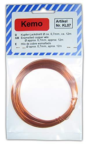 Kemo Electronic - Filo di rame smaltato diametro 0,7 mm lunghezza 12m