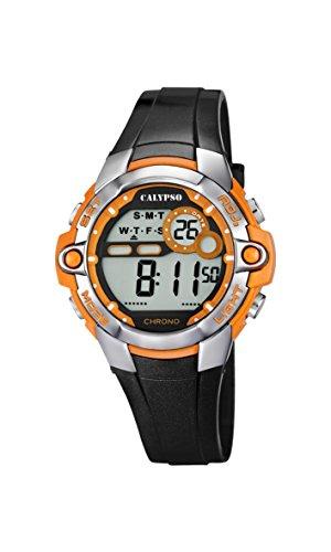 CALYPSO Reloj Modelo K5617/4 de la colección Digital Crush, Caja de 40,00/28,00 mm con Correa de plástico Negro para Caballero