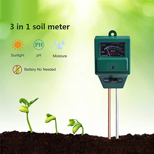 pengyu- 3 in 1 pH Tester Erde Wasser Feuchtigkeit Licht Test Meter Blume Garten Pflanzensensensor 3 in 1 Bodenprüfer Gartengeräte