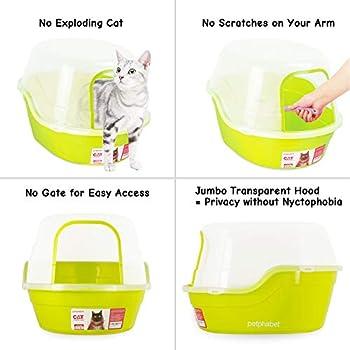 petphabet Maison de Toilette pour Chat Toilette Enveloppée pour Animaux XXL Multiple Couleur Disponible (Vert)