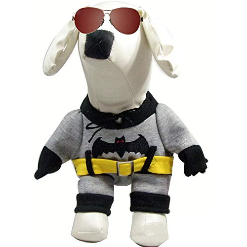 Topelec-huisdier hond kat kostuum grappige hond huisdier kleding pak Corsair Dressing up kerst halloween partij kleding winter warme jas voor honden kat, M, Batman