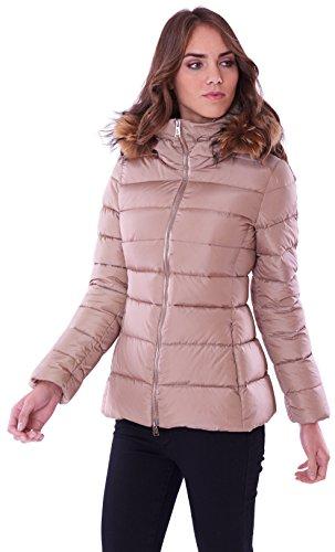ADD Down/Fur Border Mantel für Damen, Braun 42