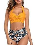 CMTOP Bikini Mujer 2021 Push up Cuello Halter Conjuntos de Bikinis Dividido...